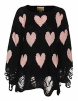 All Over Love Oversize Knit Sweater Jumper