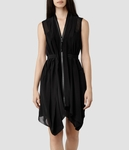 AllSaints Black Lewis Dress