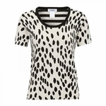 Animal print fine-knit top (On Sale)