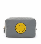 Anya Hindmarch Gray Smiley Makeup Pouch - 9.23