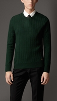 ARAN KNIT WOOL CASHMERE SWEATER