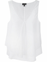 ARMANI JEANS draped sleeveless blouse