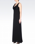 ARMINI LONG SILK DRESS WITH DRAPED NECKLINE (ON SALE)