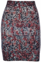 'Army' Mixed Print Bandage Skirt - Final Sale