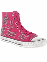 Ash Pink Vibration Studded Sneaker (On Sale)