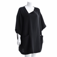 Asymmetrical Silk Cape Dress Resort