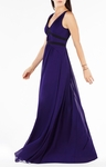 BCBG AURICA COLOR-BLOCKED PLEATED GOWN
