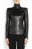 BALMAIN Leather turtleneck top