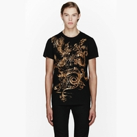 Gold Dragon and Phoenix Print Tshirt