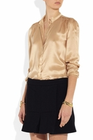 BAND OF OUTSIDERS Beige Washed Silksatin Blouse