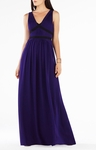BCBG AURICA COLOR-BLOCKED PLEATED GOWN - 11.26
