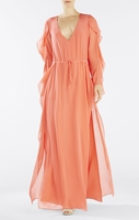 BCBGMAXAZRIA Orange Runway Jacinda Dress