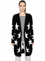 Black 'alba' Star Knit Cotton Blend Cardigan