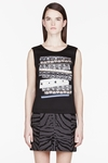 Black And Grey Neoprene Ribbon Patch Tank Top (On Sale)
