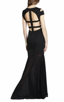 Black Ava Cutout Gown