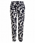 Black Benett Orchid Printed Silk Trousers - 3.16