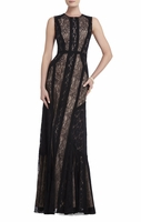 Black Bernadette Floorlength Sleeveless Dress
