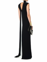 Black Bowback Silkcady Gown