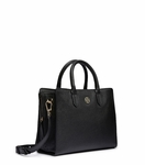 Black Brody Small Leather Tote - 12.22