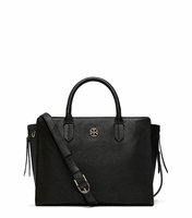 Black Brody Small Leather Tote
