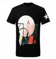 Black Columbian fit Geometric print Tshirt