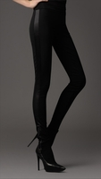 Black Contrast Jersey Leggings
