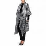 Black Dogtooth Blanket Cape