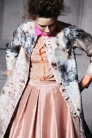 Pink Gardenprint Silk Coat