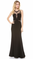 Black Lace Inset Gown