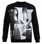 Black Photographic print Sweatshirt