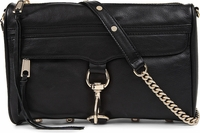 Black Rebecca Minkoff Mac Leather Clutch Bag
