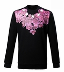 Black Rose and Star Print sweatshirt