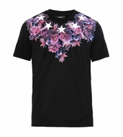 Black Rose and Starsprint Cotton Tshirt