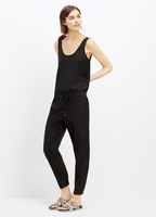 Vince Black Soft Twill Sleeveless Jumpsuit