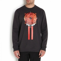 Black Target Board Printed Cotton Pullover