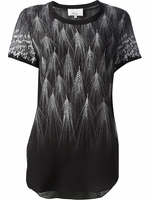 Black Wheat Fan Print Top