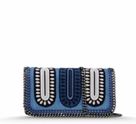 Blue Falabella Zigarette Cross Body Bag