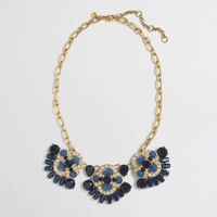 Blue Pendant Trio Necklace