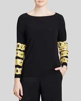 Boutique Moschino Chain Print Top