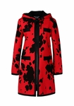 BOUTIQUE MOSCHINO cow print hooded coat - 9.20