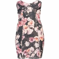 Bronco Floral Sweetheart Dress