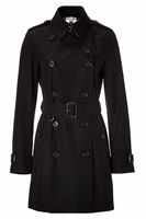Buckingham Jet Double Breasted Short Trench Coat