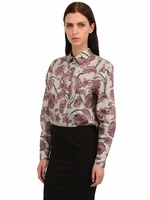 Pink Victorian Flower Cotton Poplin Shirt