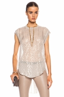 By Malene Birger Beige Ornella Silk-blend Top