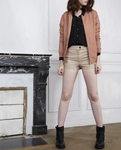 BY MALENE BIRGER PINK LEATHER BOMBER JACKET