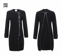 CAMEL/BLACK WOOL COAT (ON SALE)