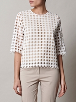 White Broderie Anglaise Blouse (On Sale)