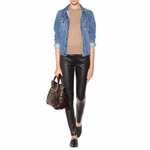 Close Lamb Leather Trousers
