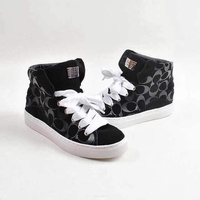 Renee Logo Stamped High Top Suede Sneaker