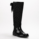 Coach Black Tristee Rainboot